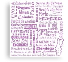 Country Word Mosaic - Portugal Canvas Print
