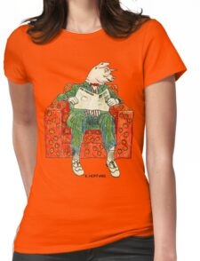 Pig Inquirer Womens Fitted T-Shirt