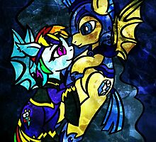Rainbow Dash and Flash Sentry by ScribbleSketch