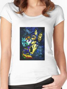 Rainbow Dash and Flash Sentry Women's Fitted Scoop T-Shirt