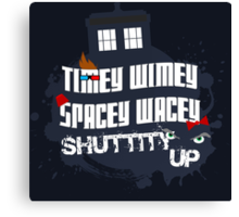Doctor Who Catchphrases 2 Canvas Print