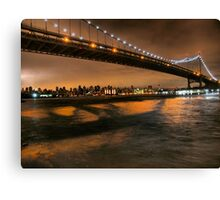 The Lights of the Triborough Bridge Canvas Print