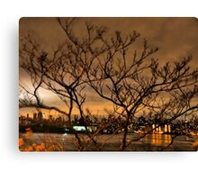 New York City and Wind Canvas Print