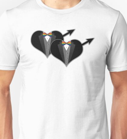 Tuxedo with Rainbow Bow Ties Unisex T-Shirt