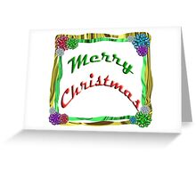 Merry Christmas Holiday Greeting Ribbon and Bows Border Greeting Card