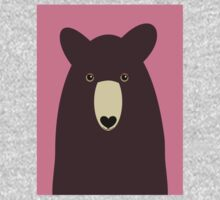 BROWN BEAR PORTRAIT  Kids Tee