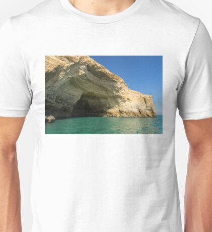 Jewel Toned Ocean Art - Colorful Sea Cave in Algarve Portugal Unisex T-Shirt