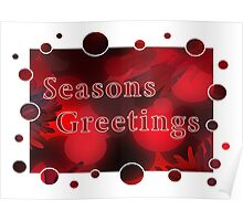 Seasons Greetings Card Poster