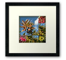 Colours of Autumn in Mirrored Frame Framed Print