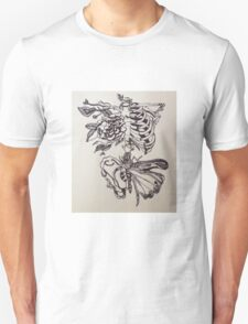 Skeleton Rose Unisex T-Shirt
