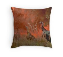 Escape from the rage... Throw Pillow