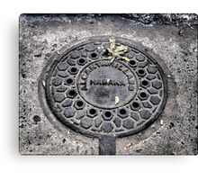 Manhole Cover, Havana Canvas Print