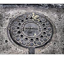 Manhole Cover, Havana Photographic Print