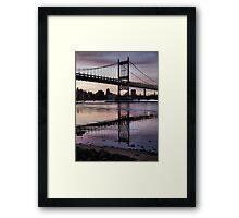 Winter Horizon - RFK Triborough Bridge Framed Print