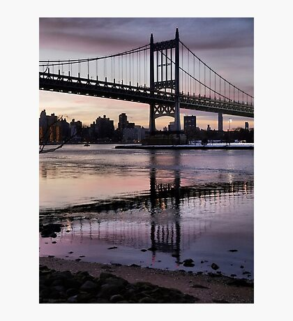 Winter Horizon - RFK Triborough Bridge Photographic Print