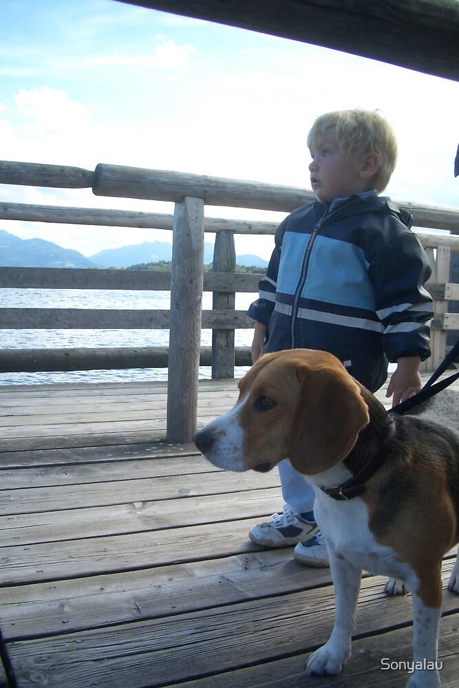Boy and Dog by Sonyalau