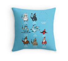 Know Your Wizards ! Throw Pillow