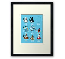 Know Your Wizards ! Framed Print