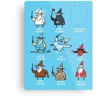 Know Your Wizards ! Metal Print