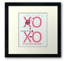 XO Kiss & Hug Framed Print