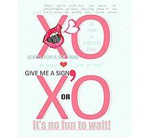 XO Kiss & Hug Photographic Print