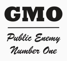 GMO public enemy number one Kids Tee