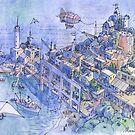 paesaggio di fantasia 02 by Luca Massone  disegni