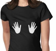 Hand Holds Womens Fitted T-Shirt