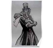 Uncle Sam comic drawing Poster