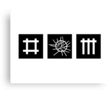 Depeche Mode : Sounds of the Universe Logo - Black Canvas Print