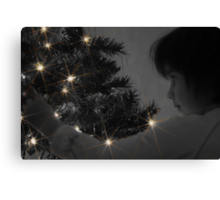A Childs Glow at Christmas Time Canvas Print