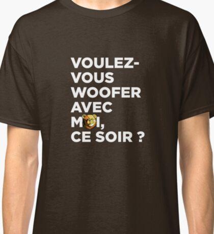 ROBUST BEAR VOULEZ-VOUS WHITE Classic T-Shirt