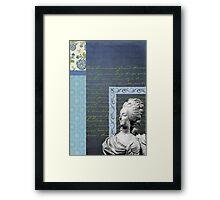 Statue in Blue Framed Print
