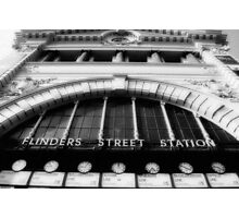 Flinders Street (in black & white) Photographic Print