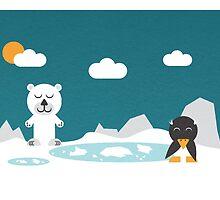 Icebear & friend by notDaisy