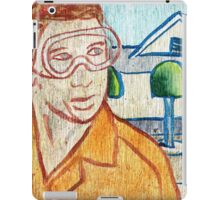 Man with Safety Goggles in Front of Well-Maintained Home iPad Case/Skin