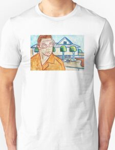 Man with Safety Goggles in Front of Well-Maintained Home T-Shirt