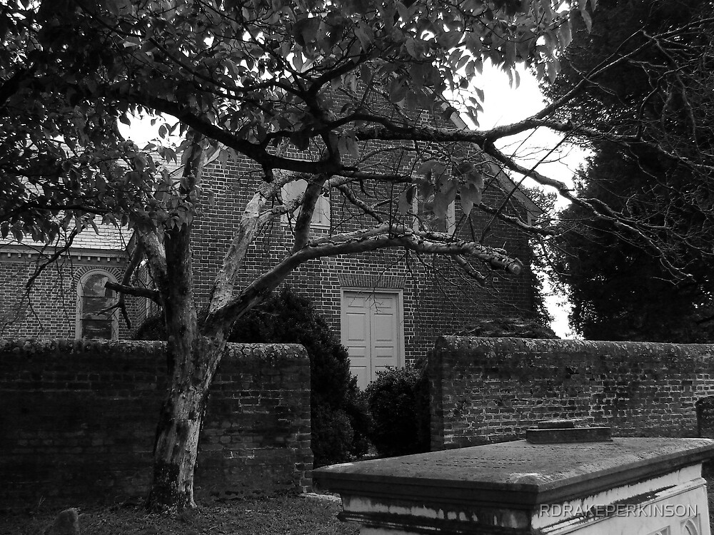BLANDFORD CHURCH IN BLACK AND WHITE by RDRAKEPERKINSON