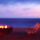 Beach Chairs & Firepit by Barbara Gordon