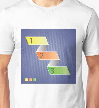 Minimal style infographic template Unisex T-Shirt
