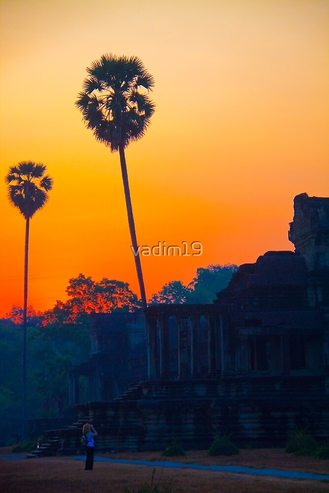 Cambodia. Angkor Wat. A Loner at Sunrise. by vadim19