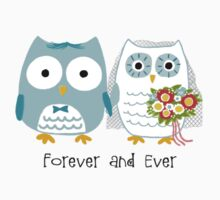 Owls Wedding Bride and Groom by Jenn Inashvili