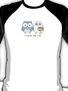 Owls Wedding Bride and Groom T-Shirt
