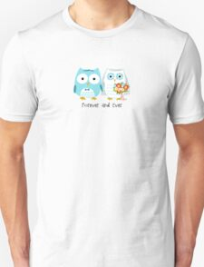 Owls Wedding Bride and Groom T-Shirt