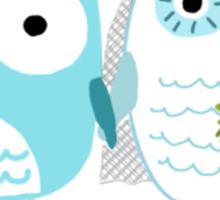 Owls Wedding Bride and Groom Sticker