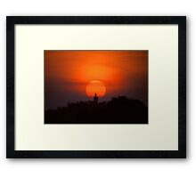 Buddha At Sunset Framed Print