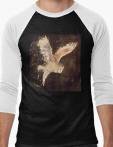 Barn Owl in flight Men's Baseball ¾ T-Shirt