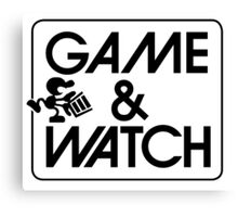 Game and Watch Man Canvas Print