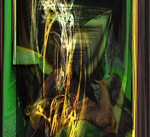 Awsome Iguana Abstract fractal by Dean Warwick