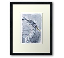 Watercolor dragon Framed Print